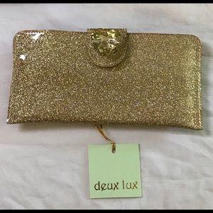 Gold glitter wallet
